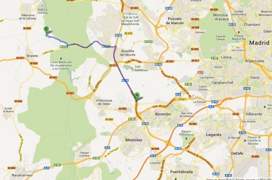 mapa Alcorcón-A5-hotel