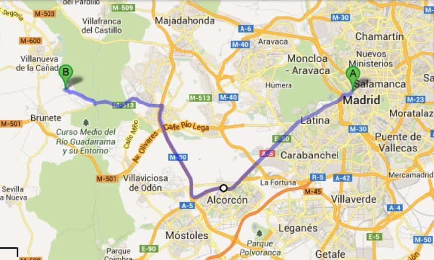 mapa Madrid centro-hotel